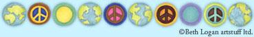 Peace-earth-border