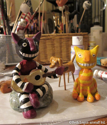 Cats-n-stick-dog-painted