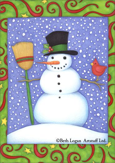 BethLogan-SnowmanFlag
