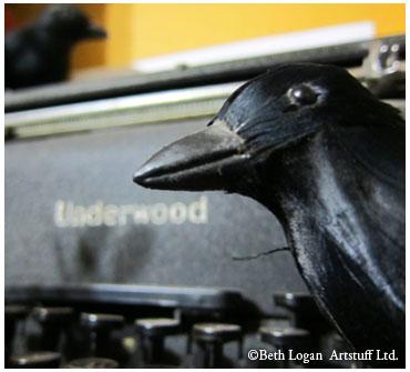Typewriter-crow