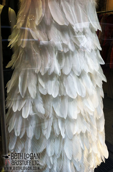 NYfeatherdress