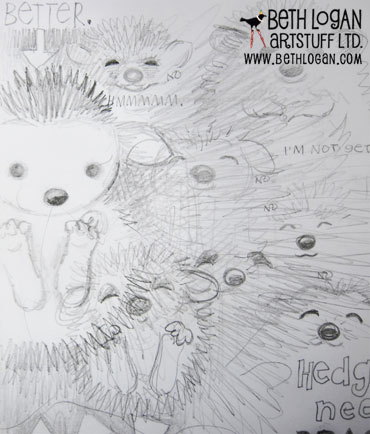 Sketchbook-hedgehogs
