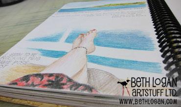 Sketchbook-feet-up