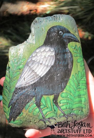 Edgar-allen-crow-on-driftwood