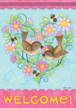 Carson Bird Heart flag