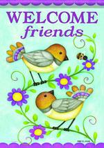 Carson Welcome Friends Birds flag