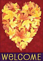 Autumn Heart garden flag