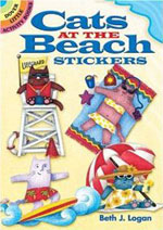 Cats at the Beach stickers