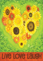 sunflower heart garden flag