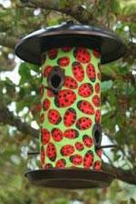 ladybug birdfeeder